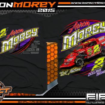 Aaron Morey Dirt Modified Racing Shirt 2015 Black