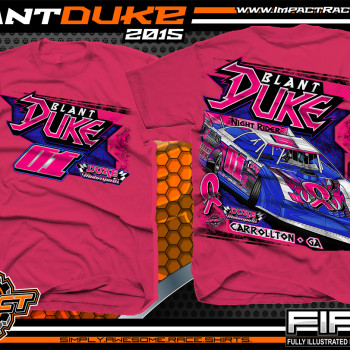 Blant Duke Dirt Late Model Shirt 2015 Pink