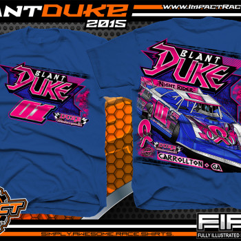 Blant Duke Dirt Late Model Shirt 2015 Royal