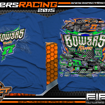 Bowers Racing Dirt Modified Shirt 2015 Royal
