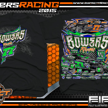 Bowers Racing Dirt Modified Shirt 2015 blk