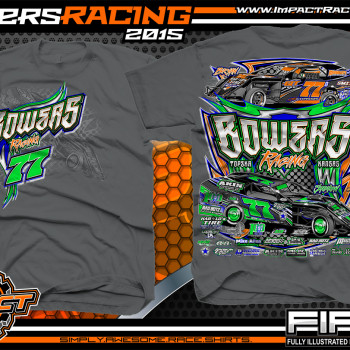 Bowers Racing Dirt Modified Shirt 2015 charcoal