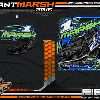 Bryant Marsh Dirt Late Model Shirt 2015 Black