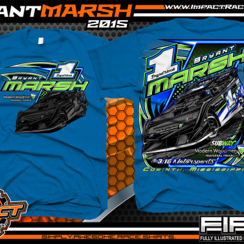 Bryant Marsh Dirt Late Model Shirt 2015 Blue