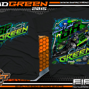 Chad Green Dirt Late Model Shirt 2015 blk