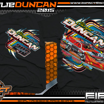 Charlie Duncan Dirt Late Model Shirt 2015 Black