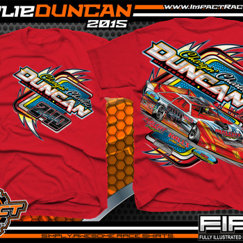 Charlie Duncan Dirt Late Model Shirt 2015 Red