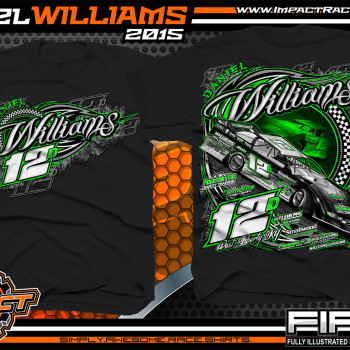 Daniel Williams Dirt Late Model Shirt 2015 blk