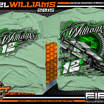 Daniel Williams Dirt Late Model Shirt 2015 mint