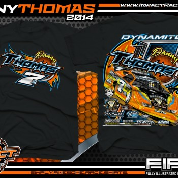 Danny Thomas Dirt Late Model T-Shirt Black