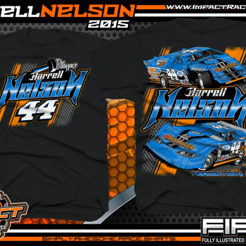 Darrell Nelson Dirt Late Model Shirt 2015 Black