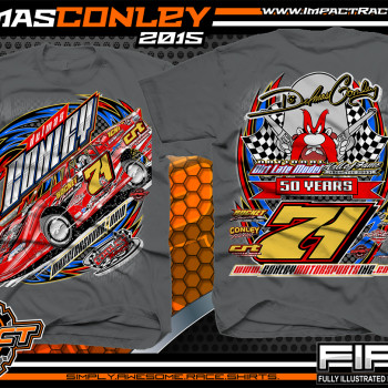 Delmas Conley Dirt Late Model Shirt 2015 Charcoal