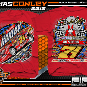 Delmas Conley Dirt Late Model Shirt 2015 Red
