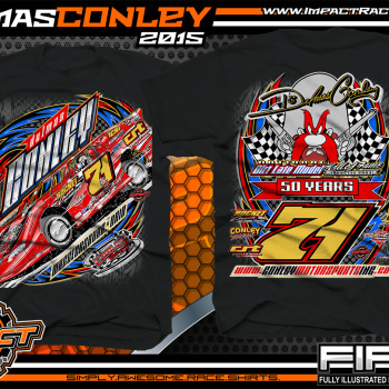 Delmas Conley Dirt Late Model Shirt 2015 blk