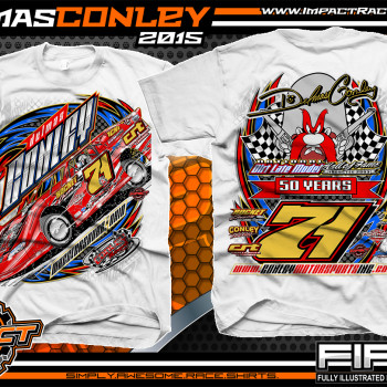 Delmas Conley Dirt Late Model Shirt 2015 wht
