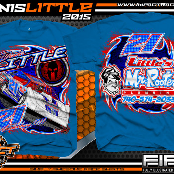 Dennis Little Dirt Late Model Shirt 2015 Blue