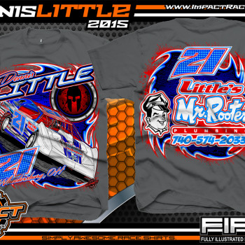 Dennis Little Dirt Late Model Shirt 2015 Charcoal