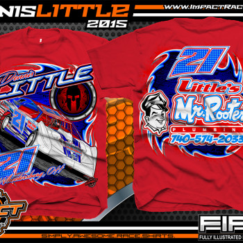 Dennis Little Dirt Late Model Shirt 2015 Red
