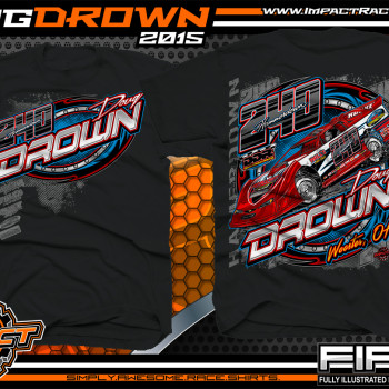 Doug Drown Dirt Late Model Shirt 2015 Black