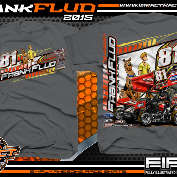 Frank Flud Sprint Car Shirt 2015 Charcoal