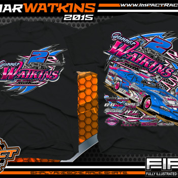 Gunnar Watkins Dirt Late Model Shirt 2015 Black