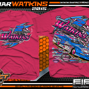Gunnar Watkins Dirt Late Model Shirt 2015 Pink