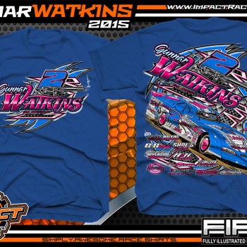 Gunnar Watkins Dirt Late Model Shirt 2015 Royal