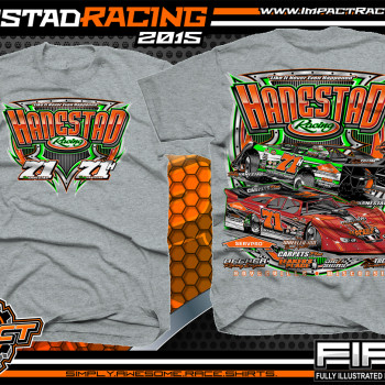 Hanestad Racing Dirt Late Model Shirt 2015 Sport Grey