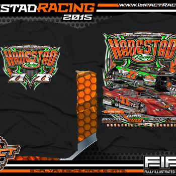 Hanestad Racing Dirt Late Model Shirt 2015 blk