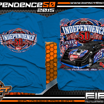 Independence 50 Lucas Oil Dirt Late Model Shirt 2015