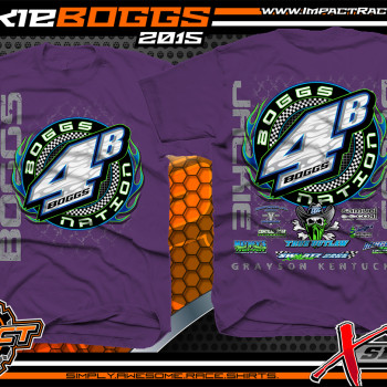 Jackie Boggs Dirt Late Model Shirt 2015 Purple