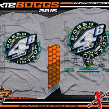 Jackie Boggs Dirt Late Model Shirt 2015 Sport Grey