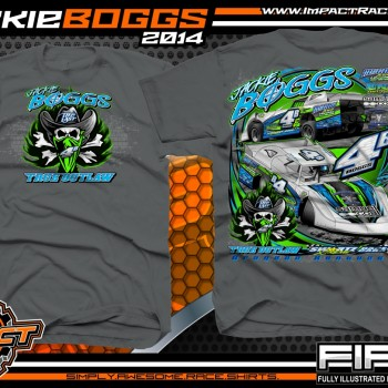 Jackie Boggs Dirt Late Model T-Shirt Charcoal