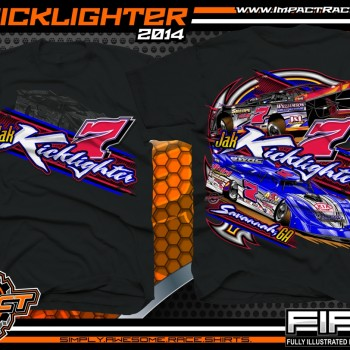Jak Kicklighter Dirt Late Model T-Shirt Black