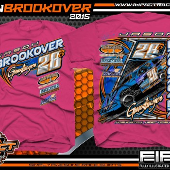 Jason Brookover Dirt Modified Racing Shirt 2015 Pink