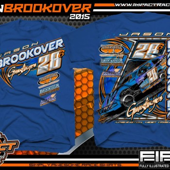 Jason Brookover Dirt Modified Racing Shirt 2015 RB