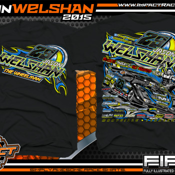 Jason Welshan Dirt Late Model Shirt 2015 blk