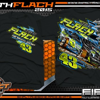 Keith Flach DIRT Big Block Modified Racing Shirt 2015 Blk
