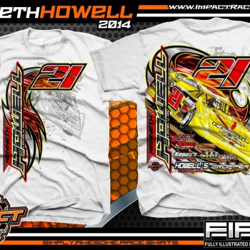 Kenneth Howell Dirt Late Model T-Shirt White
