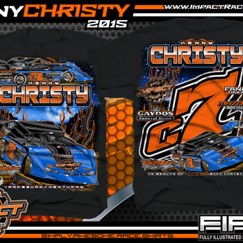 Kenny Christy Dirt Late Model Shirt 2015 Black