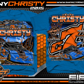 Kenny Christy Dirt Late Model Shirt 2015 Royal