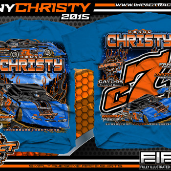 Kenny Christy Dirt Late Model Shirt 2015 Royal Blue