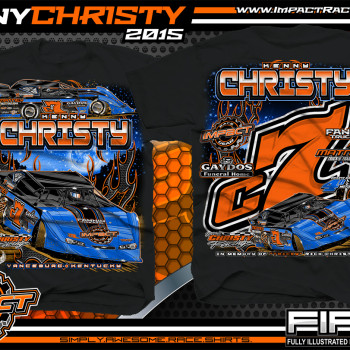 Kenny Christy Dirt Late Model Shirt 2015 blk