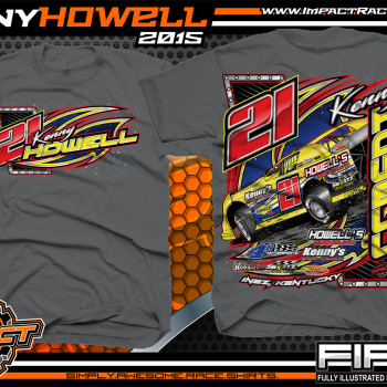 Kenny Howell Dirt Late Model Shirt 2015 Charcoal