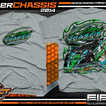 Killer Chassis Dirt Late Model T-Shirt Sport Grey