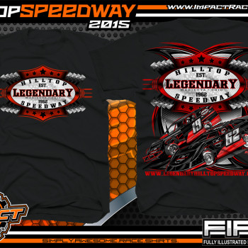 Legendary Hilltop Speeway Dirt Late Model Shirt 2015 blk