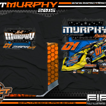 Matt Murphy Dirt Late Model Shirt 2015 Black