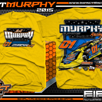 Matt Murphy Dirt Late Model Shirt 2015 Yellow