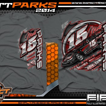 Matt Parks Dirt Late Model T-Shirt