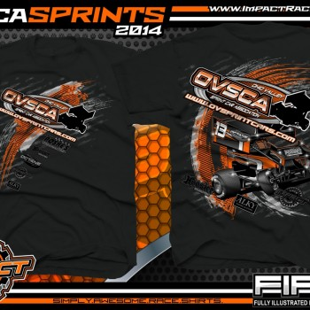 OVSCA Sprints Winged Sprint Car Series T-Shirt